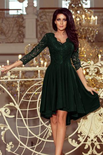 Sukienki midi Nicolle elegancka sukienka z koronką asymetryczna sukienka