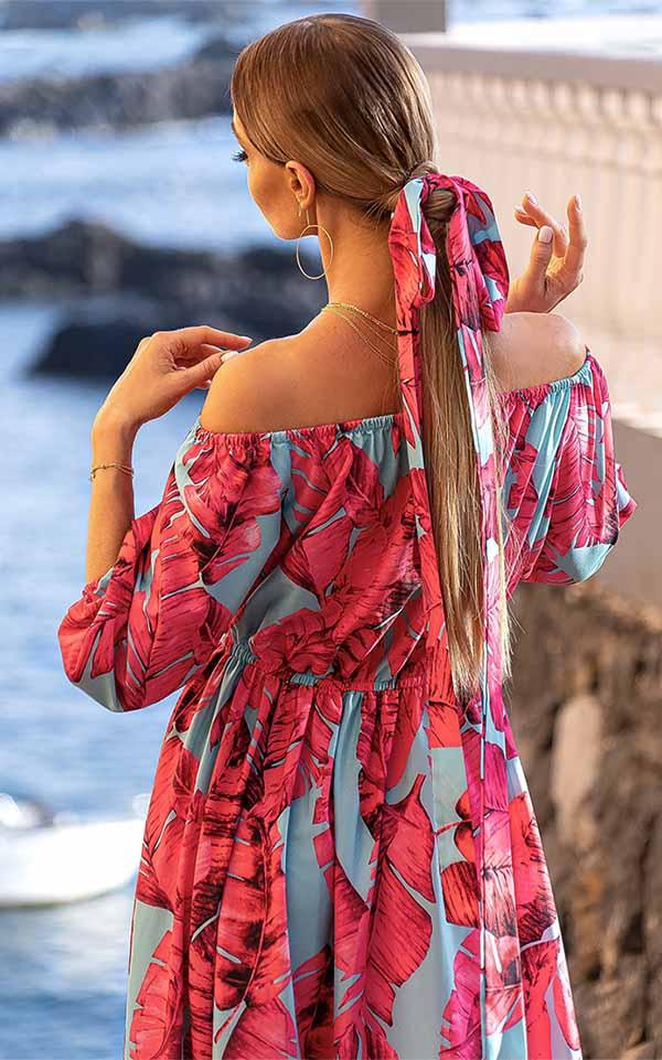 Sukienki codzienne maxi Emo Klara długa elegancka hiszpanka Długa sukienka