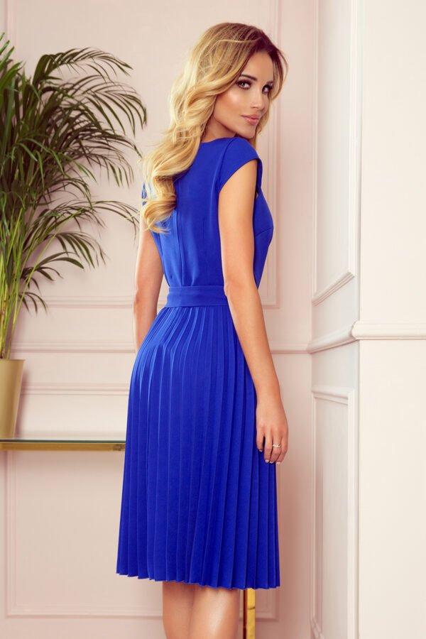 Sukienki codzienne midi Lila chabrowa plisowana sukienka chabrowa sukienka