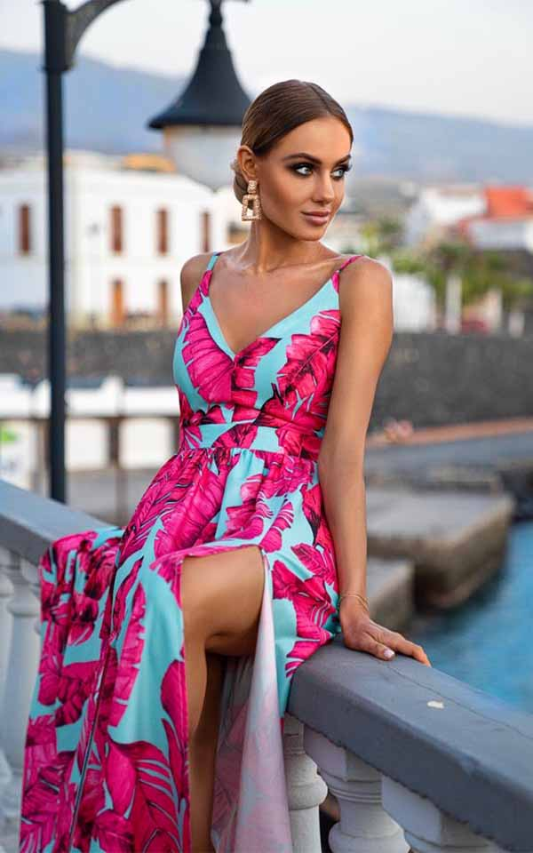 Sukienki codzienne maxi Emo Nina długa sukienka na ramiączkach Długa sukienka