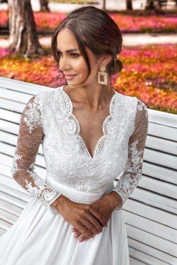 Sukienki wieczorowe Emo Luna biała cudna sukienka do ślubu Długa sukienka