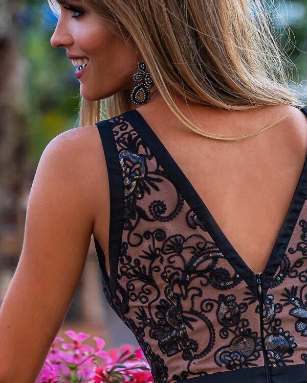 Sukienki wieczorowe EMO CHARLOTTE piękna wieczorowa sukienka kloszowana sukienka
