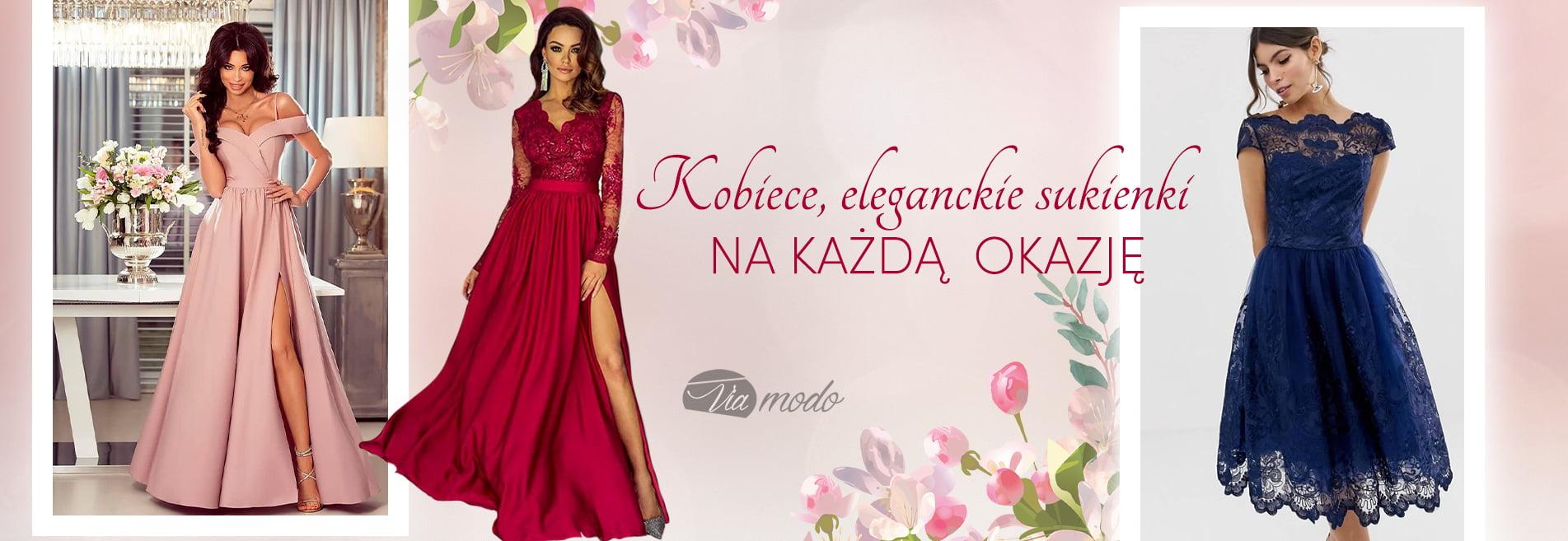 Eleganckie sukienki Wieczorowe i na Wesele