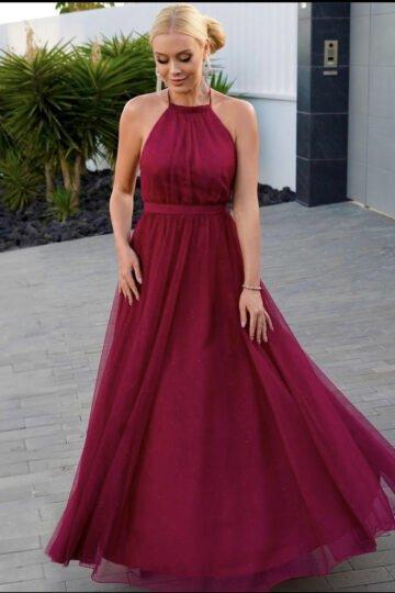 Sukienki wieczorowe EMO Ola kobieca tiulowa sukienka kloszowana sukienka