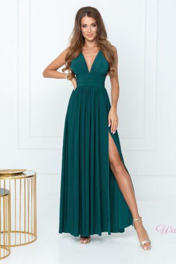 Sukienki wieczorowe maxi Virginia zielona długa sukienka Długa sukienka